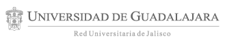 Logotipo de la Universidad de Guadalajara al pie de páginas web